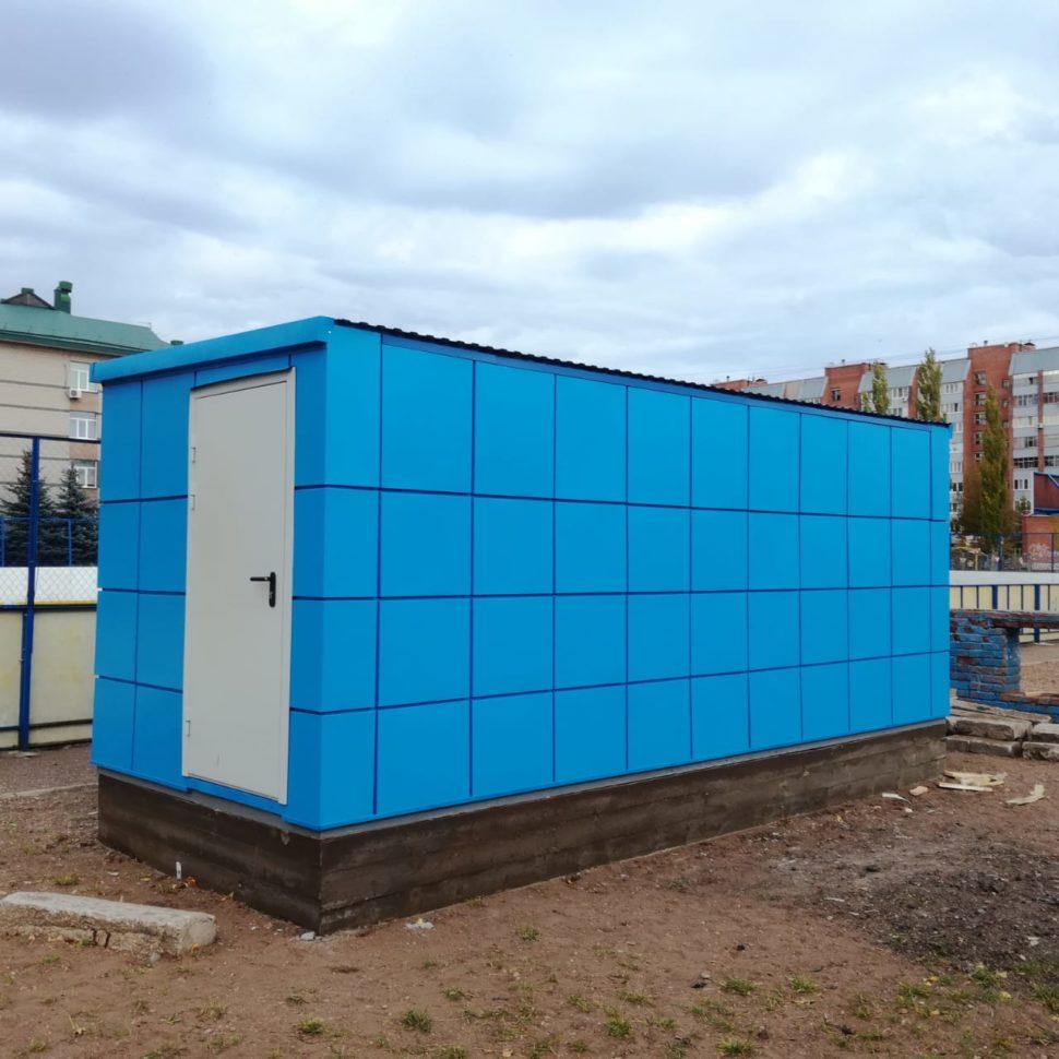 Блок-контейнер для раздевалки